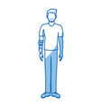 guy wearing vr headset - virtual reality glasses vector image