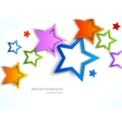 Colorful stars vector image