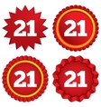 21 years old sign Adult label symbol vector image