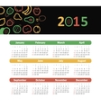 Calendar 2015 year with fruit icons vector image