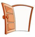An open door vector image