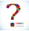 question mark puzzle vector image vector image