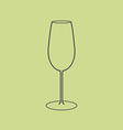 Liquor glass icon vector image