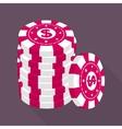 Casino gambling chips stack vector image