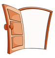 An open door vector image