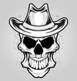 Angry skull ornament vector image