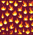 cartoon fire flames background pattern vector image