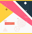 colorful abstract geometric memphis background vector image