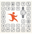 fitness tracker icons set vector image