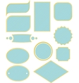 frame and label set for frames vector image