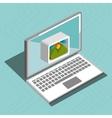 laptop isometric isolated icon design vector image