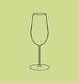 Liquor glass icon vector image