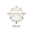 logo sacred landscape vector image