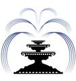 Retro Fountain Silhouette Icon vector image