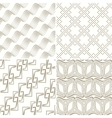 Set of seamless geometric pattern vector image