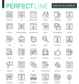 web development thin line web icons set seo vector image