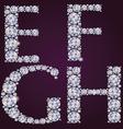 Alphabet of diamonds EFGH vector image vector image