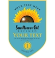 label for sunflower oil vector image vector image