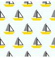sailing ship seamless kid pattern in vector image