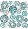 turquoise circles vector image vector image