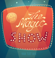 magic show signboard background vector image