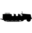 armoured halftrack silhouette vector image vector image