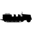 armoured halftrack silhouette vector image