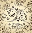 Seamless flowers wallpaper Vintage background vector image