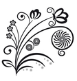 Floral ornament Decorative branch vector image