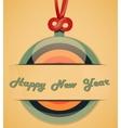 Retro greeting card vector image