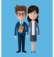 Cartoon man woman coworkers corporate vector image