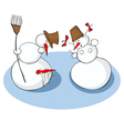 winter accident vector image vector image