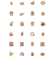 Coffee icon set vector image vector image