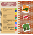 Austria infographics statistical data sights vector image