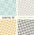 Set of four geometric patterns vector image vector image