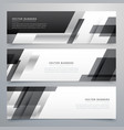 black business banners design in geometric style vector image