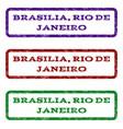 brasilia rio de janeiro watermark stamp vector image