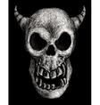 Daemon skull vector image