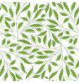 Leaf pattern green vector image