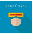 Mask robot Hero superhero flat style icon vector image