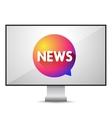 News TV screen vector image