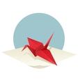 Origami Crane vector image