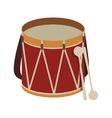 parade drum icon image vector image