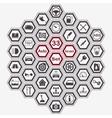 Polygon auto icon set vector image