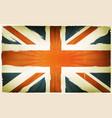 vintage english flag poster background vector image