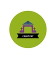 stylish icon in color circle building cemetery vector image