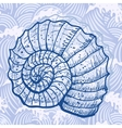 Sea shell vector image