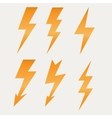Lightning icon flat design long shadows vector image