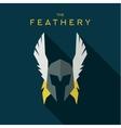 Mask feathery Hero superhero flat style icon vector image