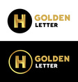 Letter H logo icon design template elements vector image